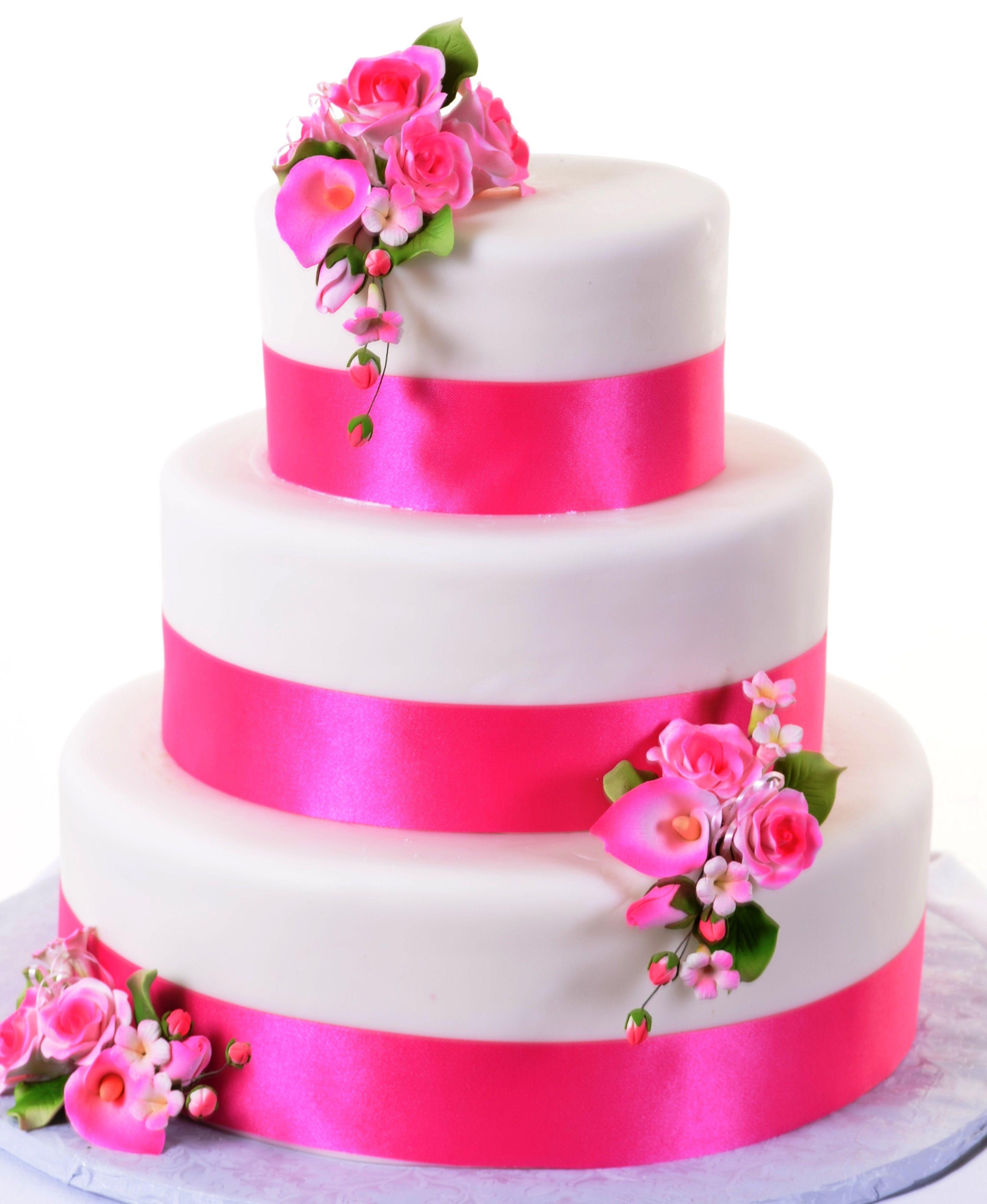 W931 Pretty In Pink Vegas cake, Pink wedding cake, Las