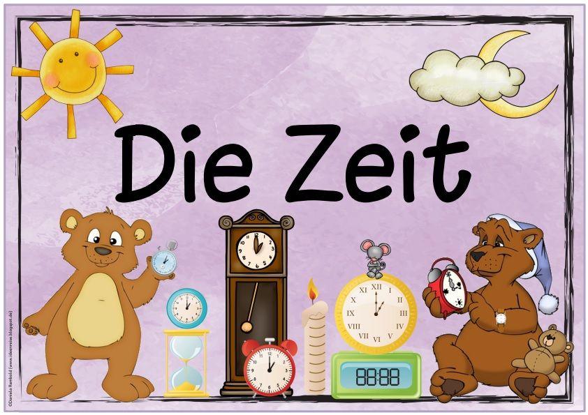 """Themenplakat """"Die Zeit""""   Ein Wunsch aus der Wunschkiste war ein Themenplakat  zur Zeit für den Sachunterricht.   Ich hoffe, es gefällt euc..."""