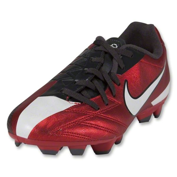 Nike T90 Shoot IV FG KIDS Cleats (Challenge Red/White/Anthracite)