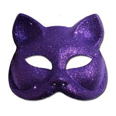 Glitter Cat Masquerade Mask In Purple | Simply Party Supplies