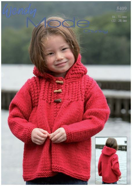 23c63a0157bb Hooded Jacket in Wendy Mode Chunky (5409) Digital Version