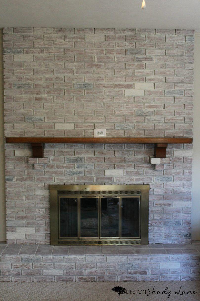 How to Whitewash a Brick Fireplace Mantle Pinterest Brick
