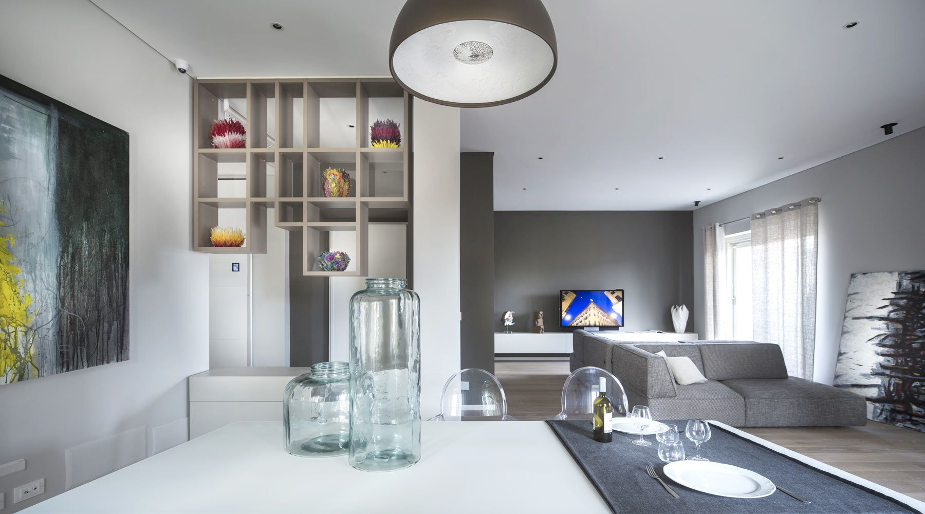 Real estate torino building lagrange soggiorno