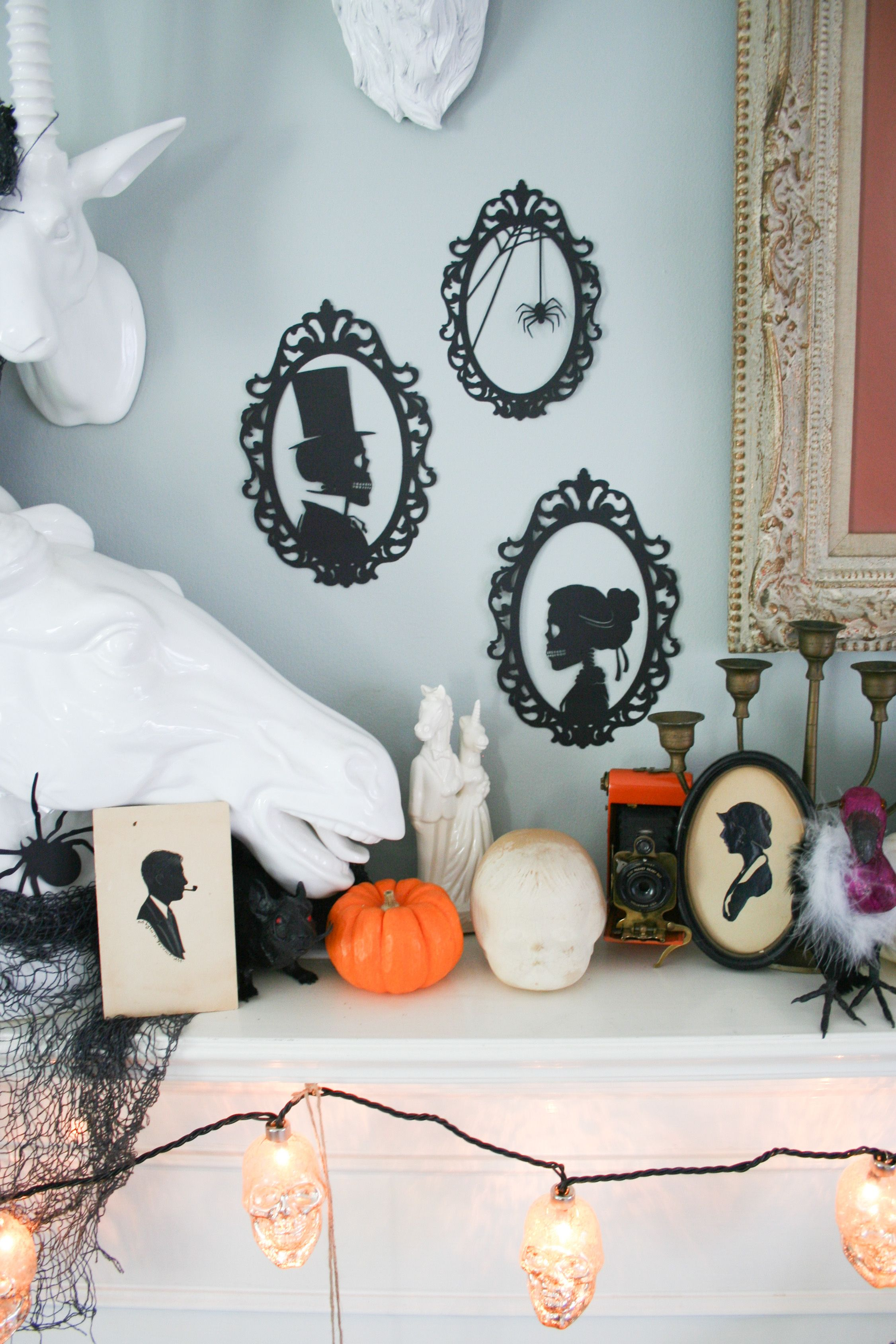 diy skeleton silhouettes | cricut tips & projects | pinterest