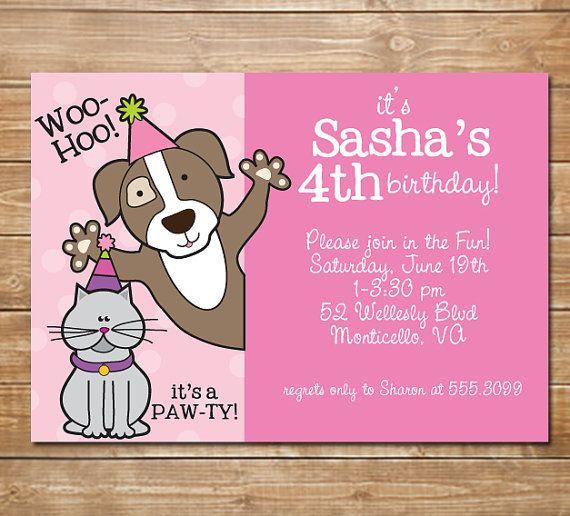 Pet Party Humane Society Invitation animal by chevronprintables – Puppy Party Invitation