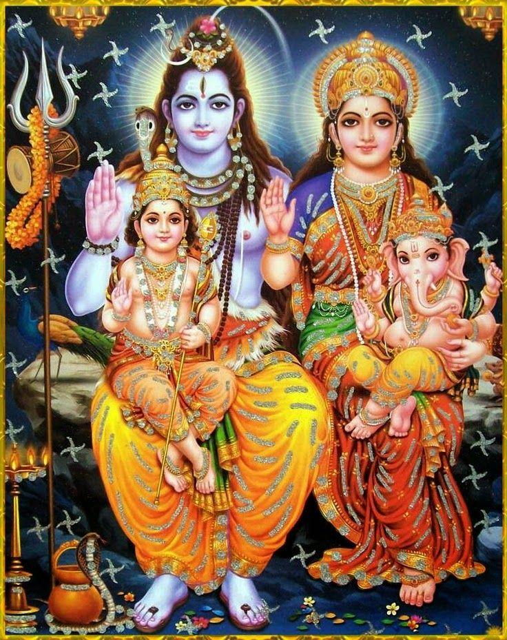 Shiva Parvati Ganesha Muruga Image Hindu Devotional Blog Pooja