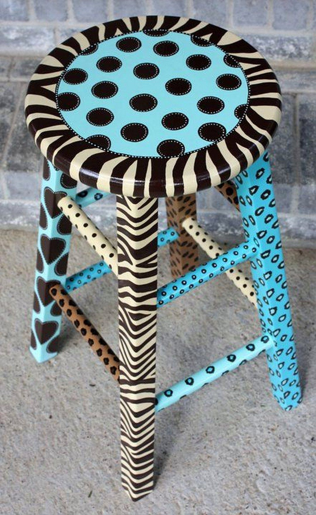 81 Cool Painted Stool Inspirations is part of Painted furniture - Finding the perfect baby present may take time, creativity and creativity  When searching for the right present, try to find the one that may grow with the kid through the years  People have a tendenc