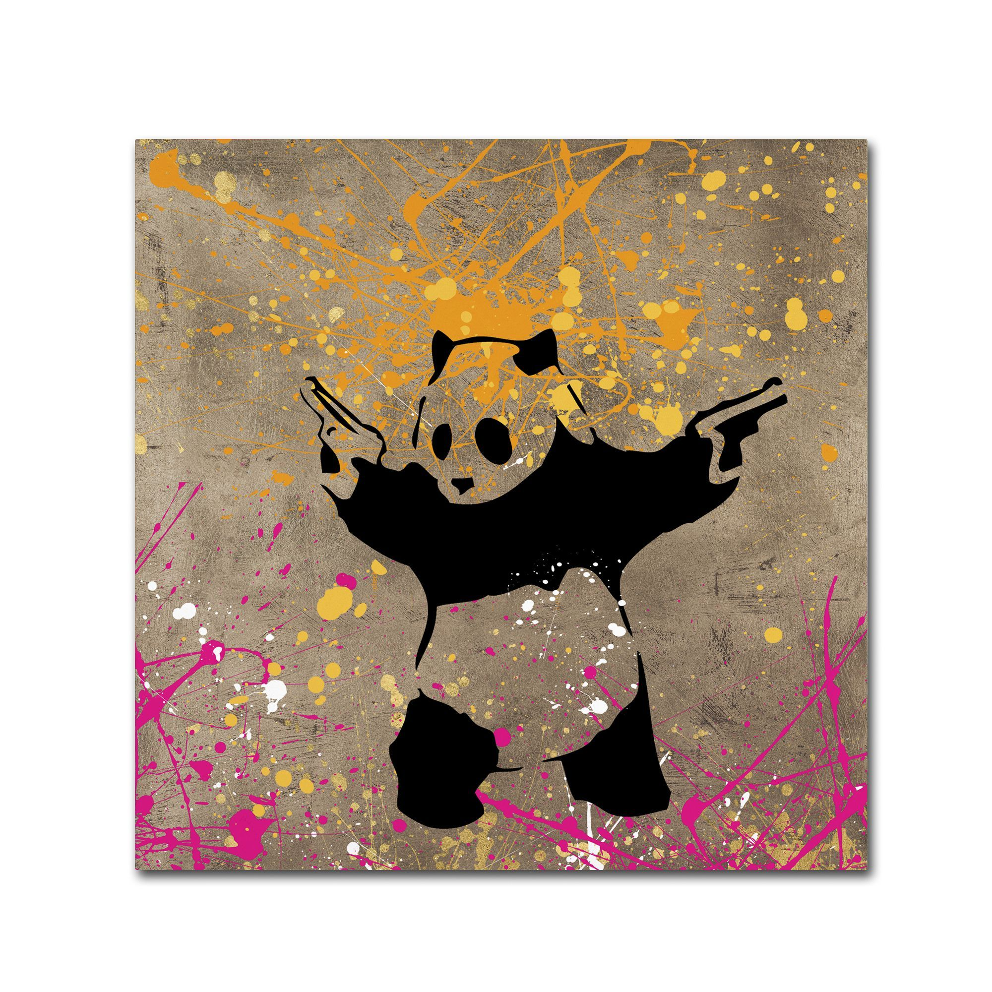 Banksy 'Panda with Guns' Canvas Wall Art by Trademark Fine Art