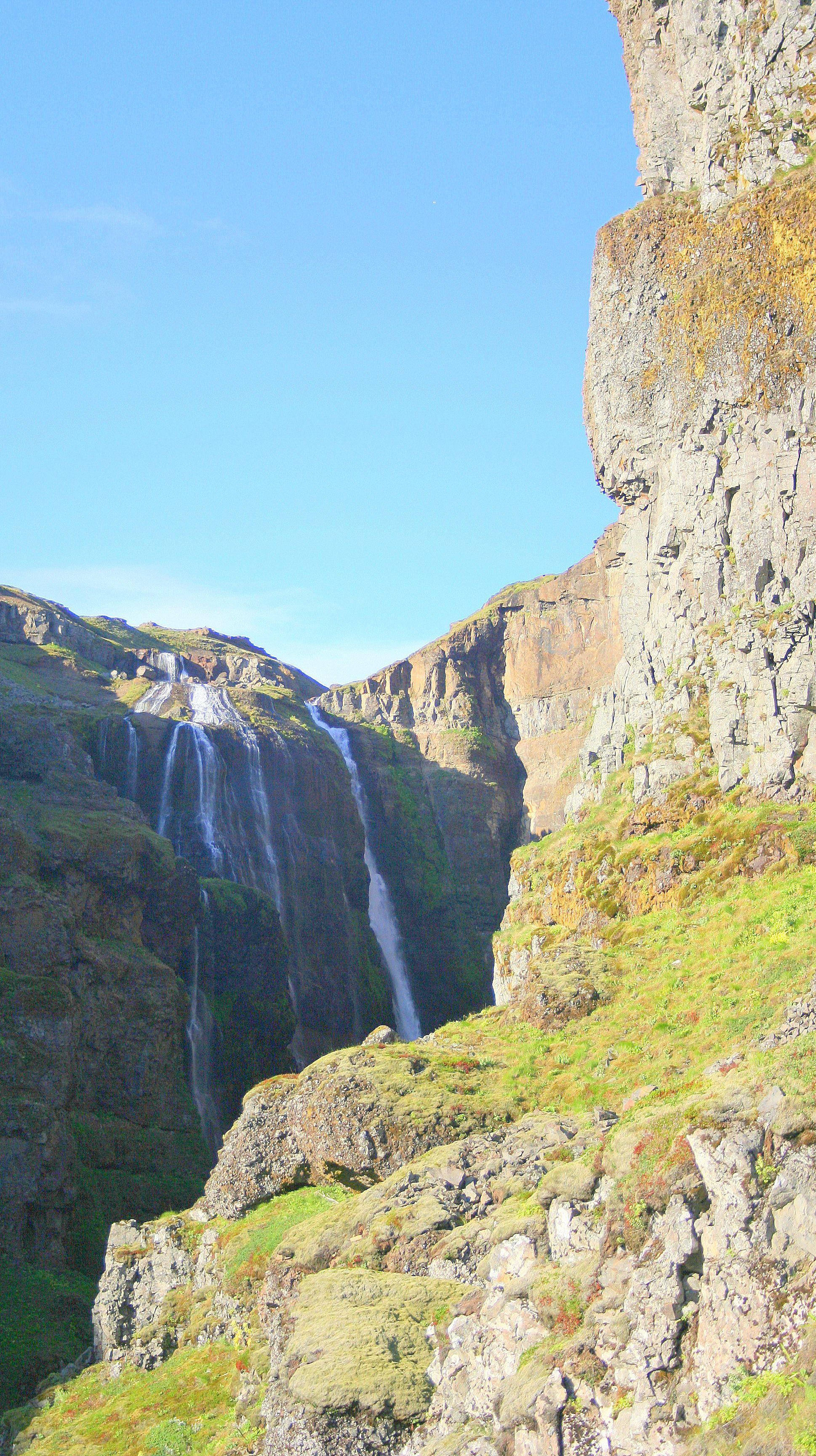 Glymur Waterfall, Iceland's Highest Waterfall.