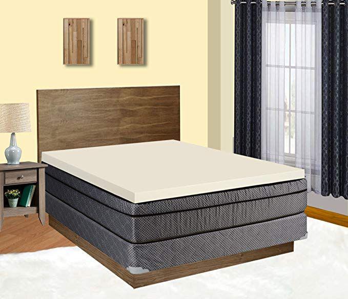 Continal Sleep High Density 2 Inch Foam Mattress Topper Adds