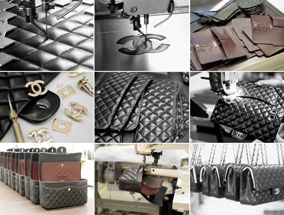 chanel bag in the making