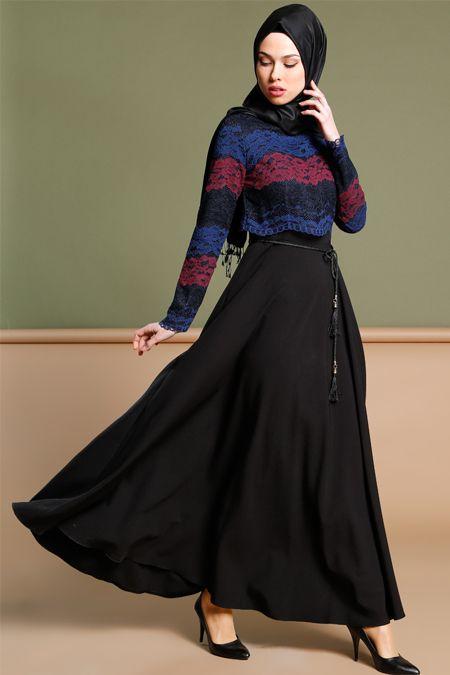 Puane Siyah Dantelli Elbise 189.90 TL  http://alisveris.yesiltopuklar.com/puane-siyah-dantelli-elbise.html