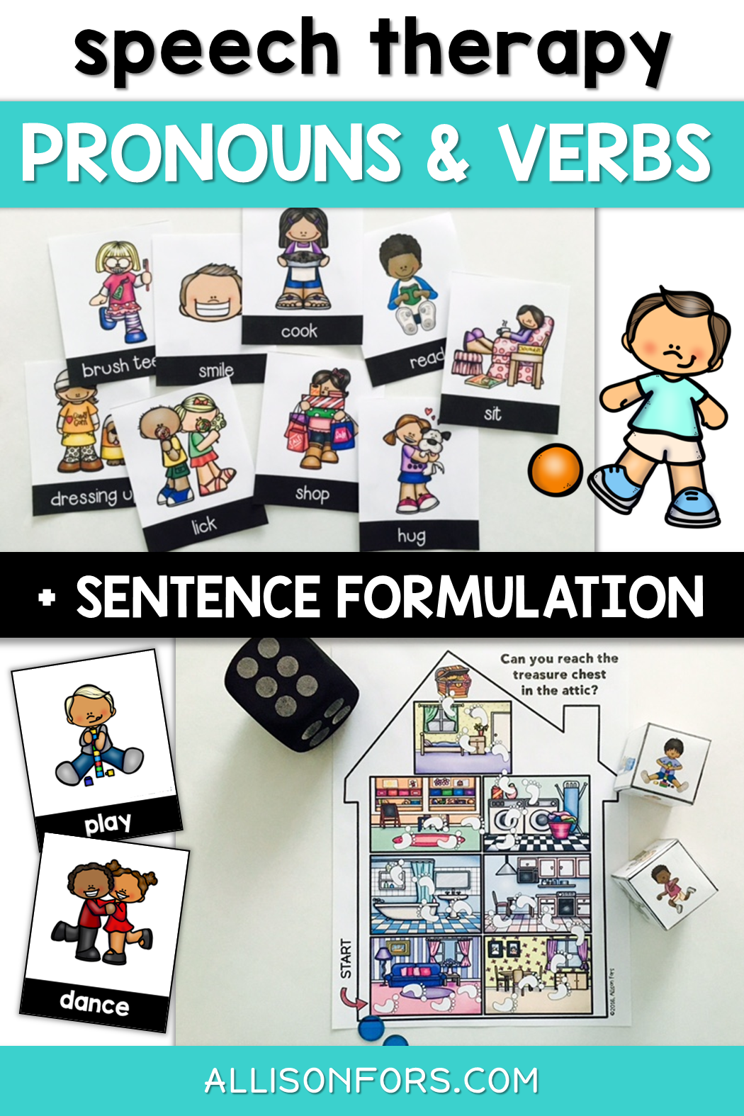 Pronouns Speech Therapy Worksheets