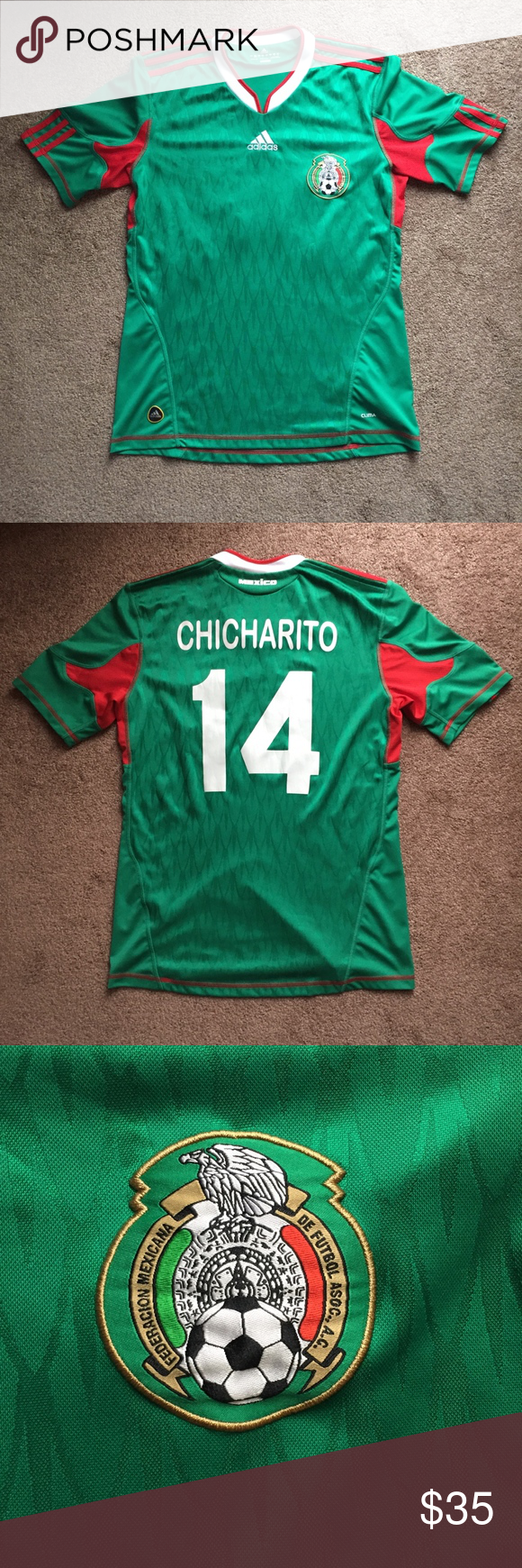 2dfd415c037 Adidas 2010 Mexico National Team Jersey Chicharito Preowned ...
