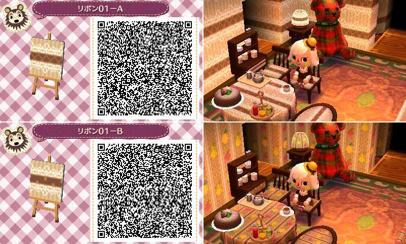 Animal Crossing New Leaf QR codes wallpaper furniture