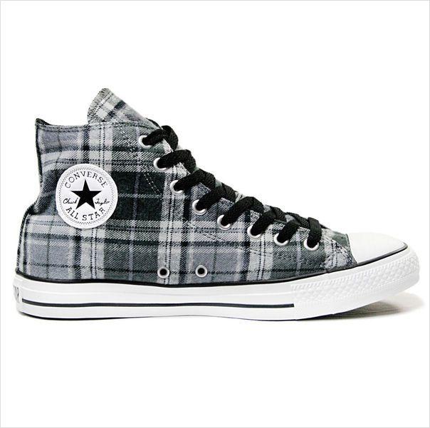 d9ffea91dece Converse All Star Hi Shoes - Grey Black Plaid on eBid United Kingdom ...