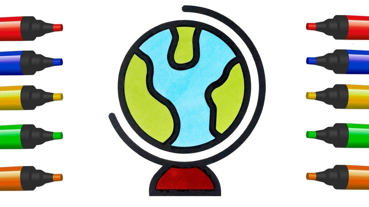 How To Draw Earth For Kids Coloring Pages Earth For Children Art Colors Earth Drawings Earth For Kids Drawing For Kids