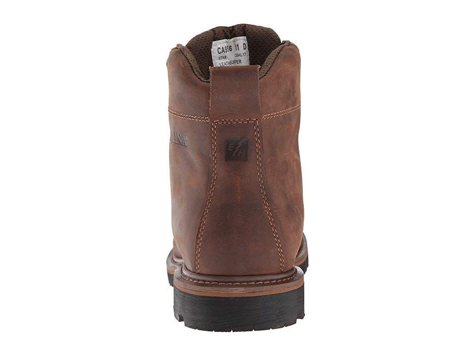 b335f913127 Carolina 6 Waterproof Work Boot CA9536 Men s Work Boots Mohawk RW Brown  Leather Upper