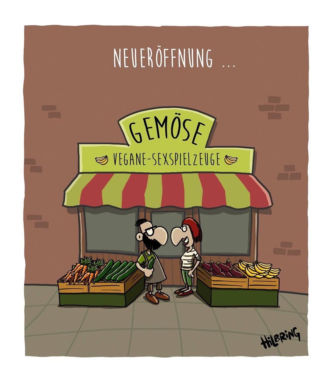 Huhu flacher Freitag! #flachwitze #flacherfreitag #flachwitz #vegan #sextoy #gemüse #oli #hilbring #cartoon #lustig by oliscartoons #veganhumor
