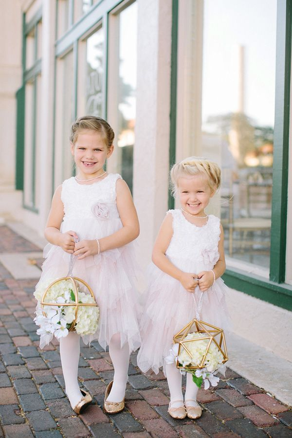 ec5337f9f flower girls with modern pomanders, photo by Jennifer Miller Photography  http://ruffledblog