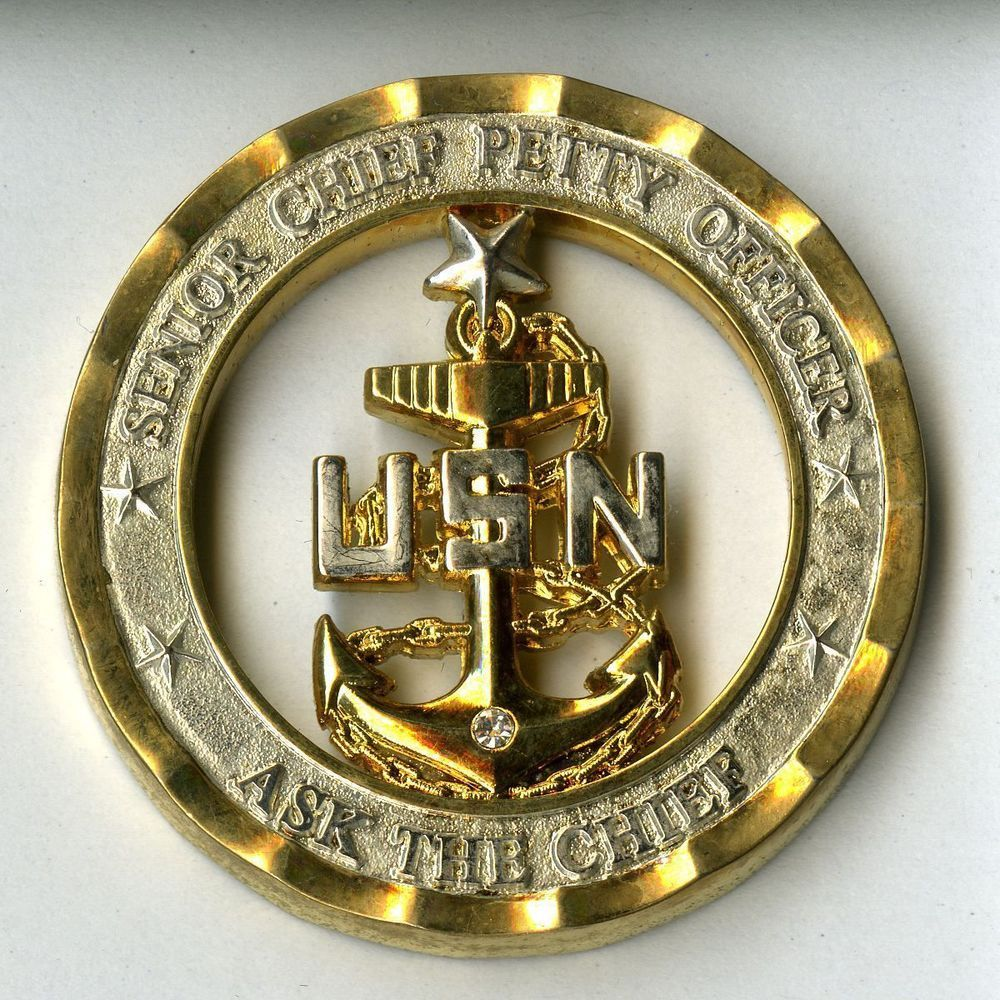 Senior Chief Petty Officer Challenge Coin Ask The Chief