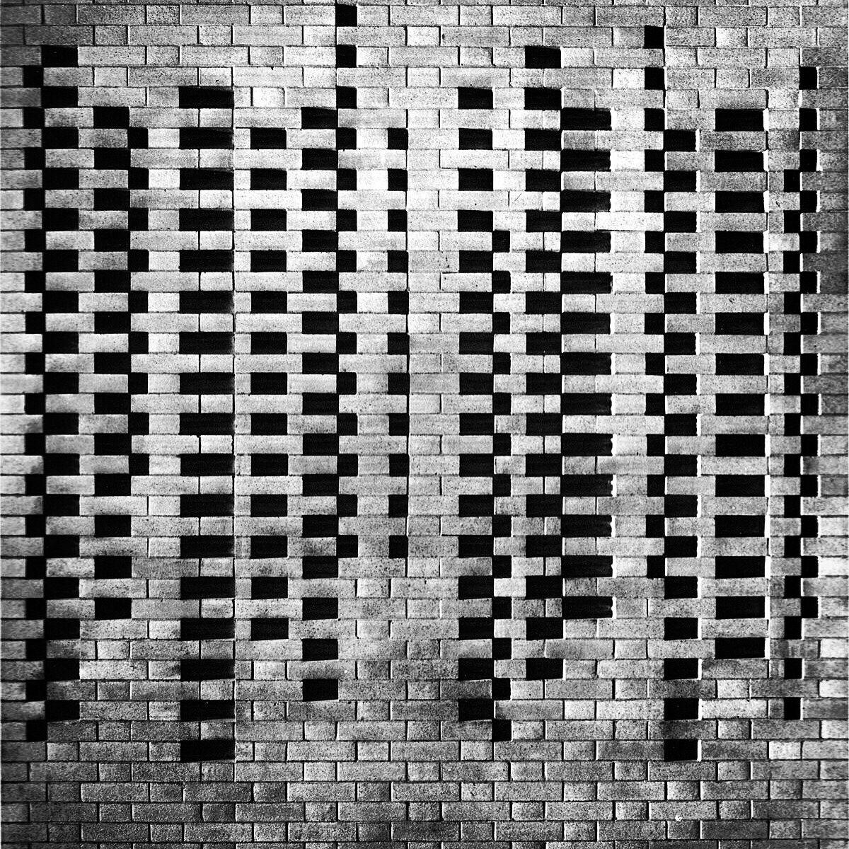 JOSEF #ALBERS BRICK #WALL DETAIL, #HARVARD #UNIVERSITY, 1949-50