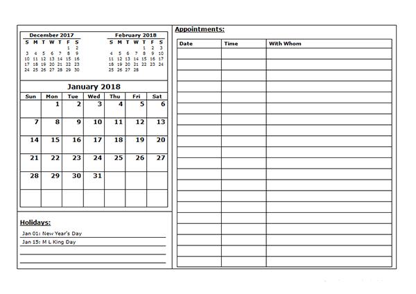 Appointment Calendar Template Excel Calendar Template Free Calendar Template Free Printable Calendar Templates