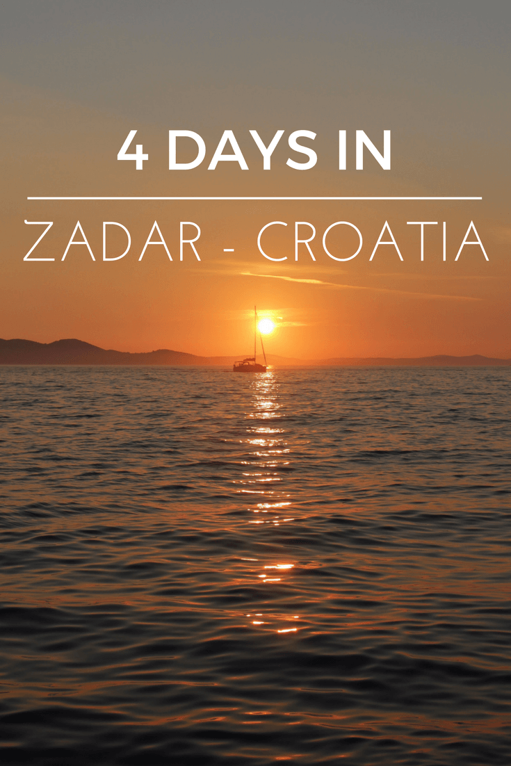 The Ancient Town Of Zadar Is Located At The Adriatic Coast