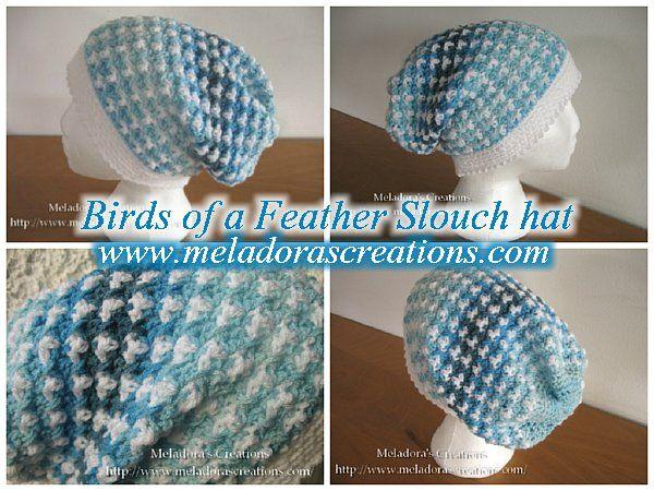 Birds of a Feather slouch hat - Free Crochet Pattern | Adult Crochet ...