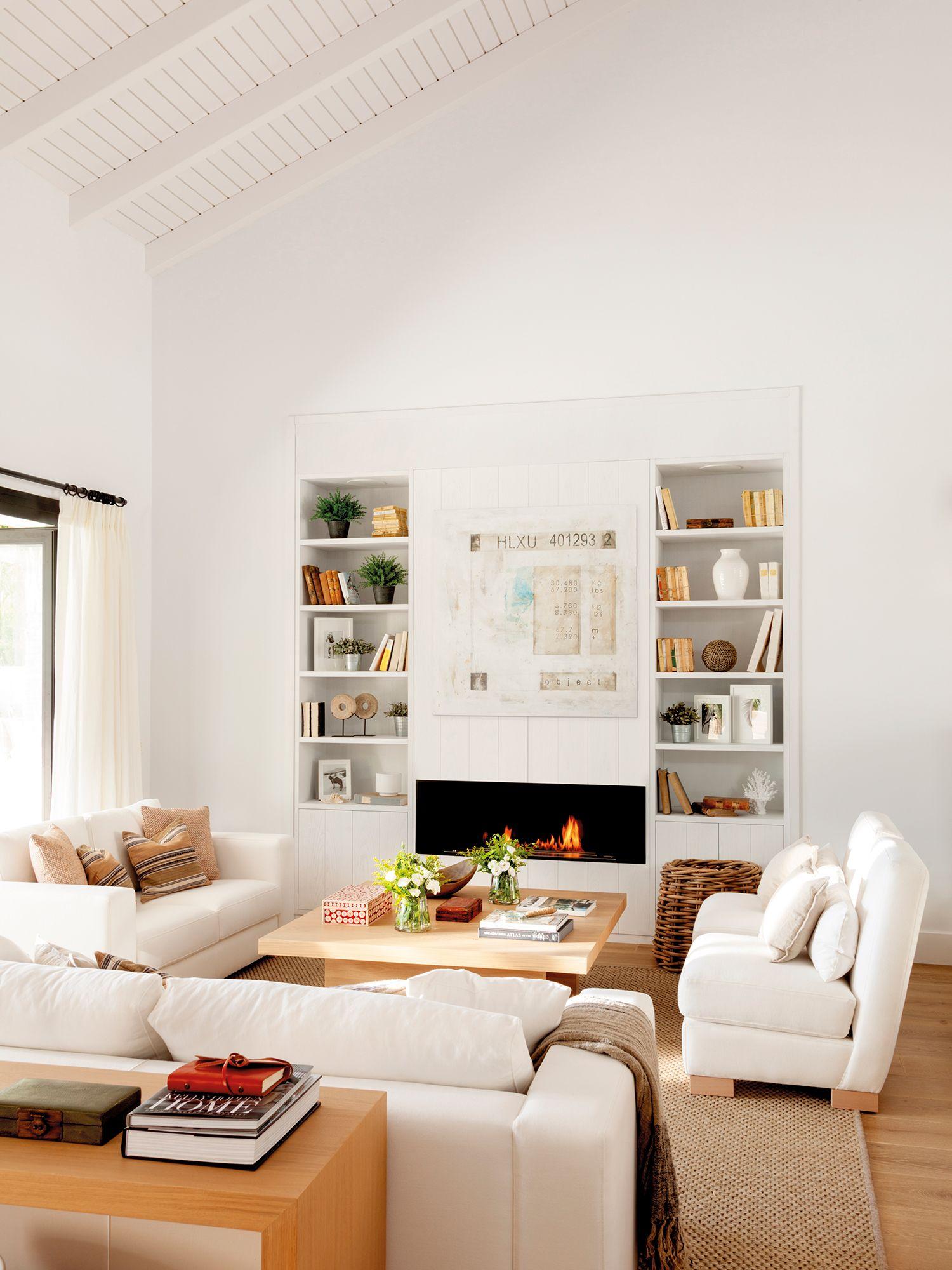 50 buenas ideas para lograr una casa perfecta | Salón blanco, Gemelo ...