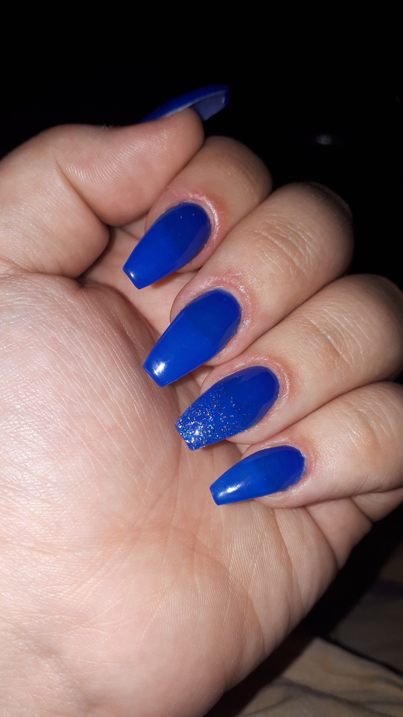 Royal Blue Coffin Acrylics Nails Royal Blue Nails Acrylic Nails Coffin Prom Nails