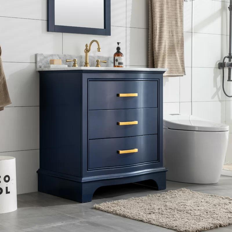 Andover Mills Goleta 30 Single Bathroom Vanity Set Reviews Wayfair In 2020 Single Bathroom Vanity Blue Bathroom Vanity Bathroom Vanity