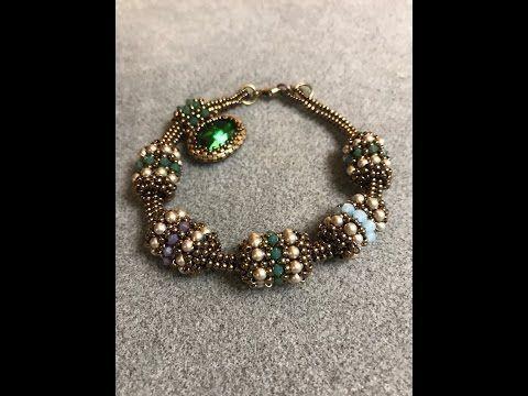 Interlace Beaded Bead & Tubular Herringbone Chain – Eine Bronzeponie Perlenschmuck …