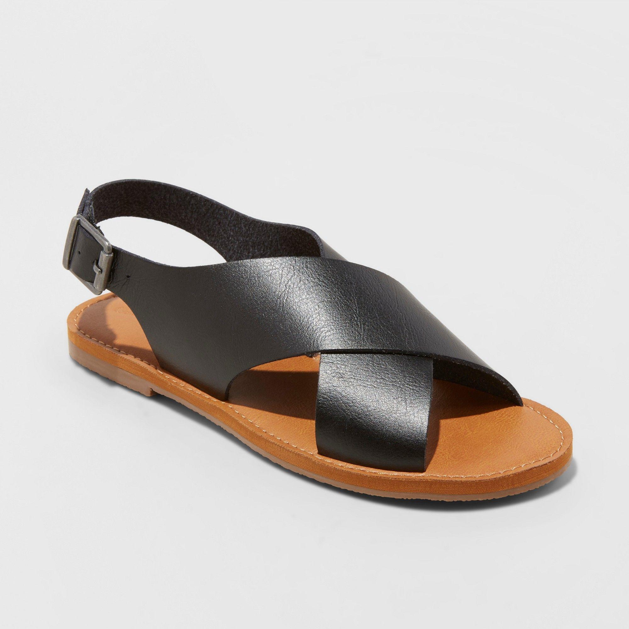a6c65ecd4 Women's Sarina Crossband Slide Sandals - Universal Thread Black 8 in ...