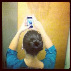 Sock bun :) finally got it right!