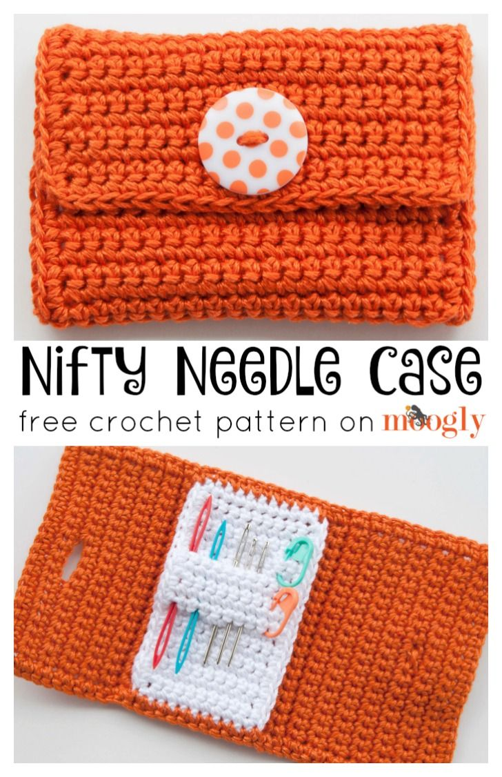Nifty Needle Case: FREE crochet pattern on Mooglyblog,com! Keep your ...
