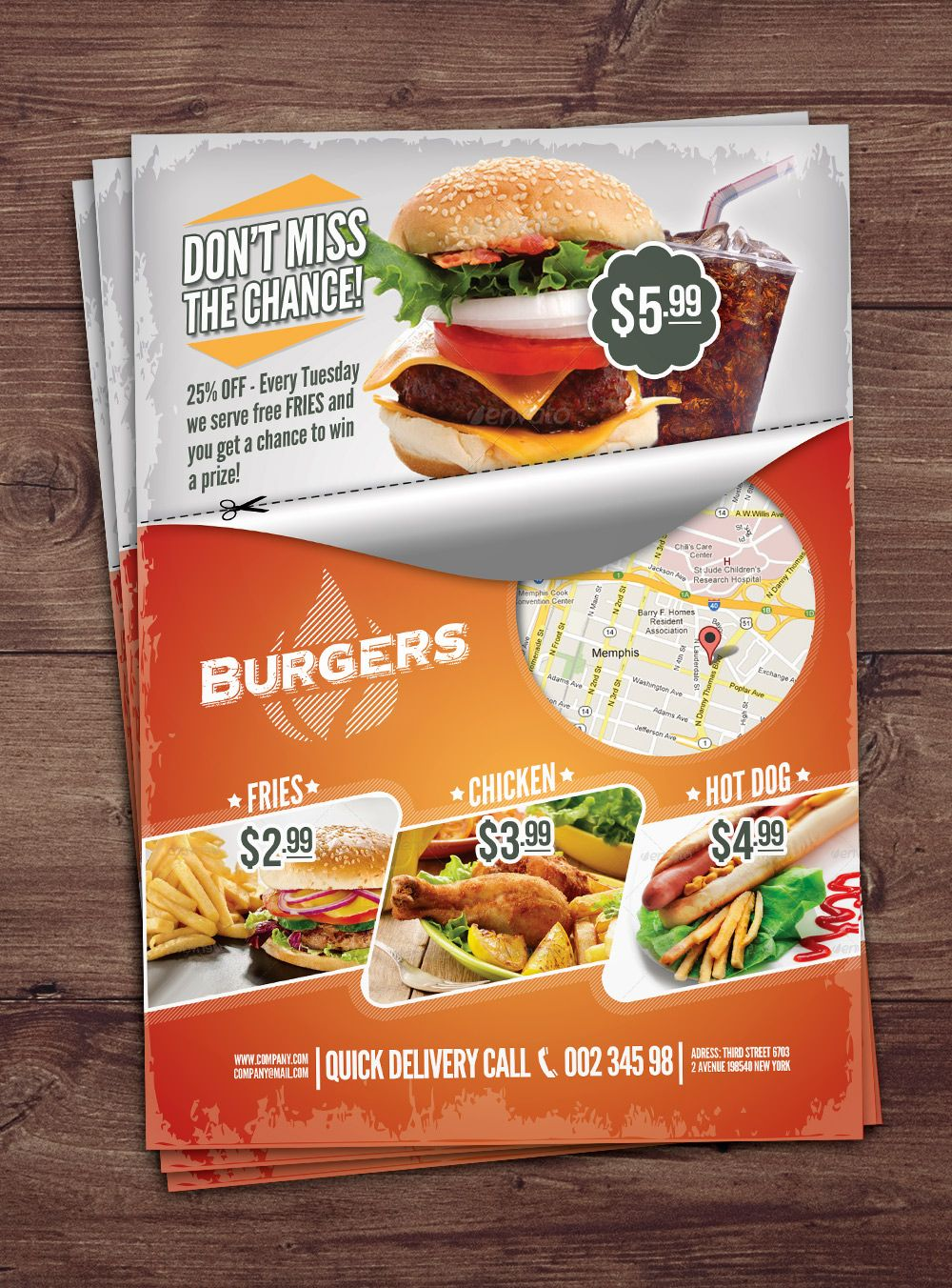 Fast Food Flyer By Punedesign Free Cupu Mock Ups Digital