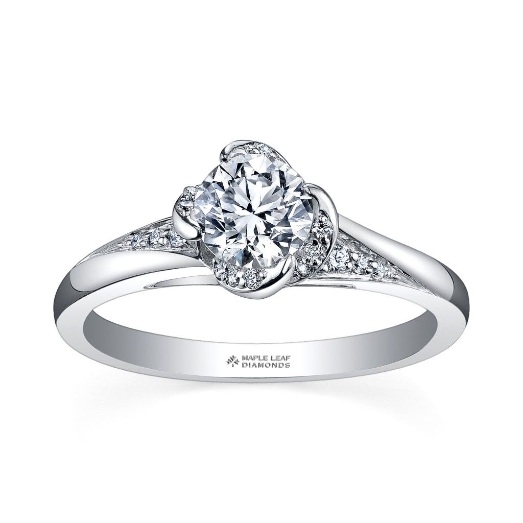 Canadian Maple Leaf Diamonds Engagement Hardens Jewellers