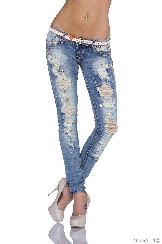 Skinny jeans damen zerrissen