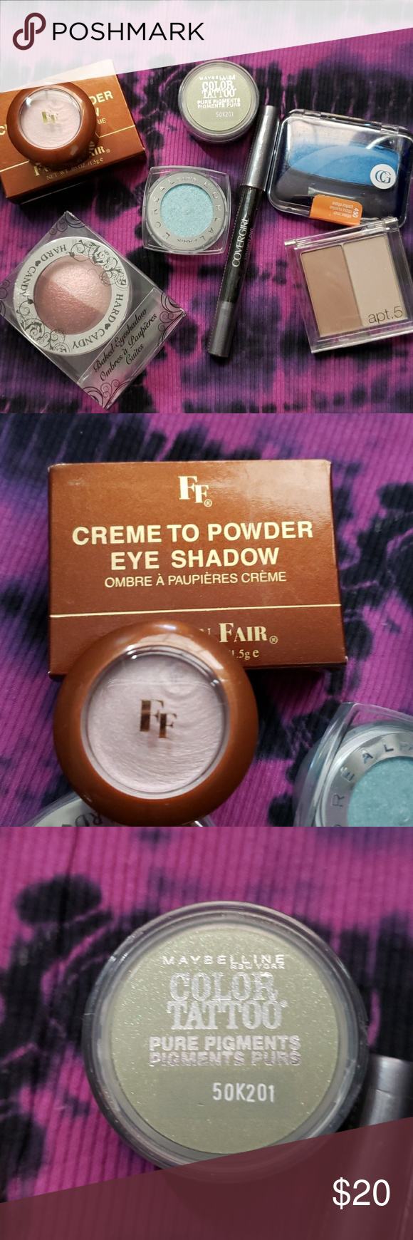 Mixed batch of eyeshadows L'oreal CoverGirl Maybelline