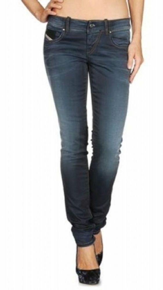 Womens Diesel Jeans Grupee 0818G Super Slim Skinny Ladies 26 \u0026 27 New  RRP�160