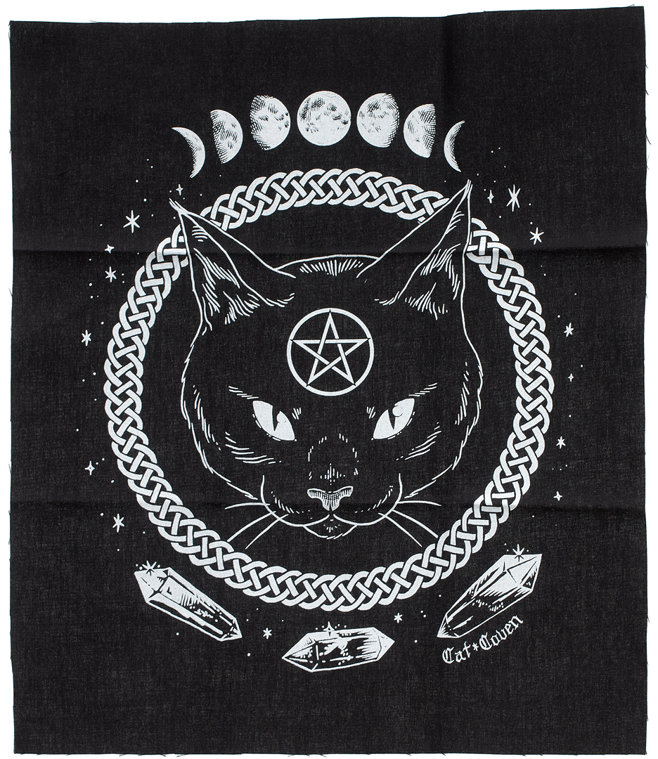 Cat coven magickal protection back patch Patches, Cat