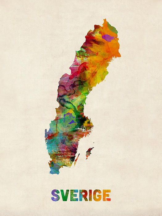 Sweden watercolour map tutorials color theory plus pinterest trademark fine art sweden watercolor map canvas art by michael tompsett size 35 x multicolor altavistaventures Choice Image