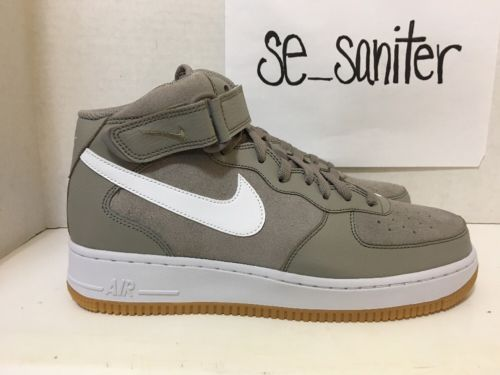 Men s Nike Air Force 1 Mid 07 Light Taupe White (315123 204) Size ... e37b7bff4