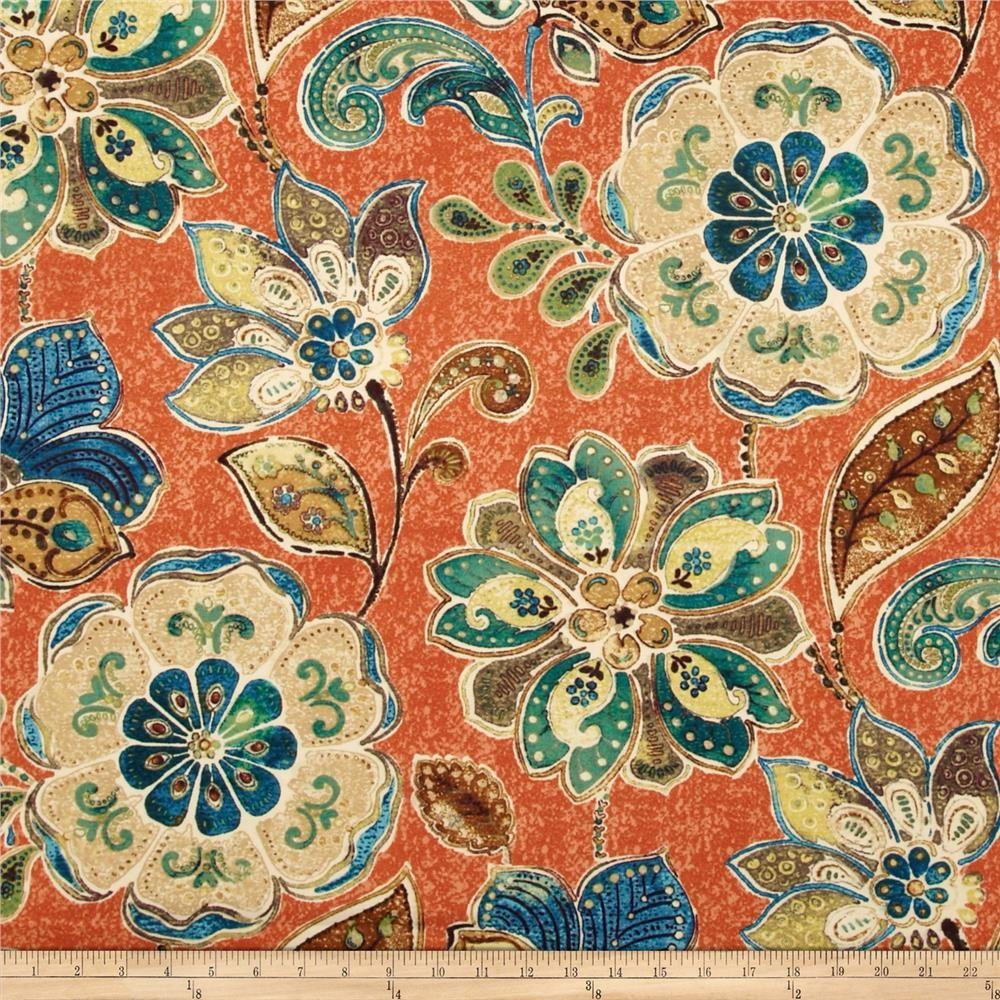 Iman Javanese Garden Henna Janet Stewart Orange