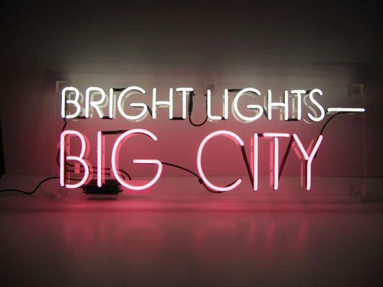 Bright Lights Big City Neon Sign Letrero De Neon Frases De Neon Neon