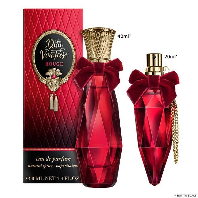 Rouge 40ml and 20ml perfume sizes
