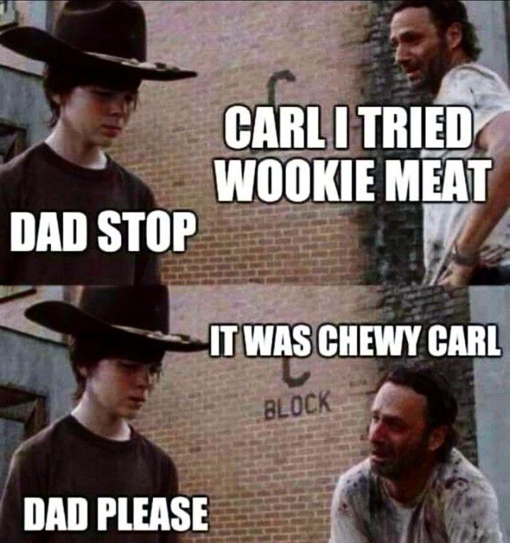 Hahaha #dadjoke #dads #chewy #chewbacca #starwars #hansolo