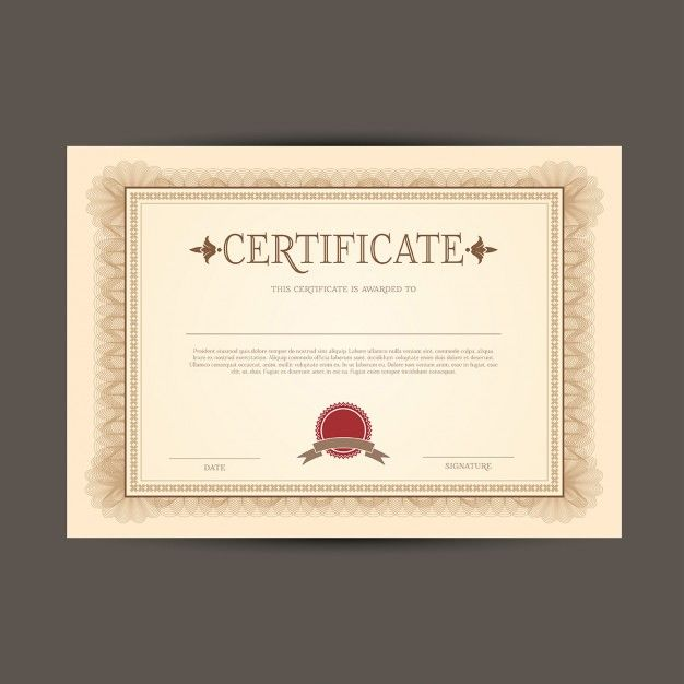 modelo de certificado ou diploma Template - free download certificate borders