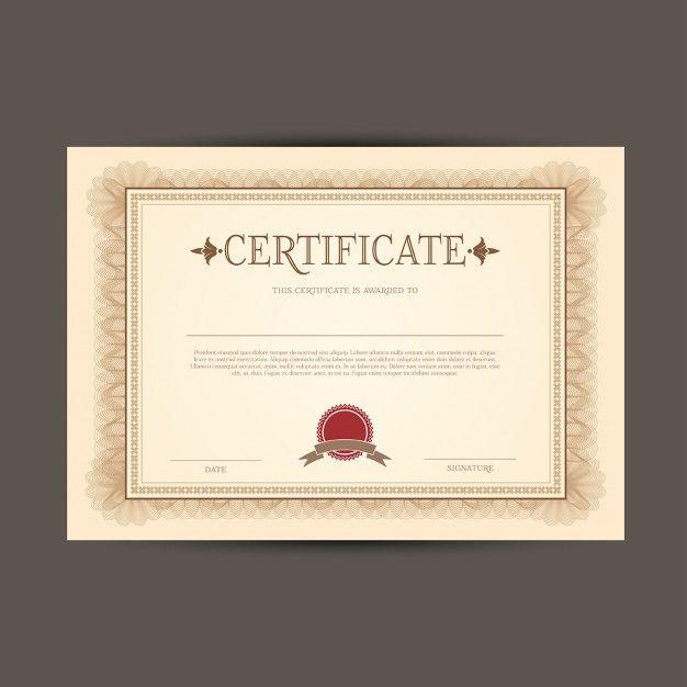modelo de certificado ou diploma Pinterest Certificate and Template